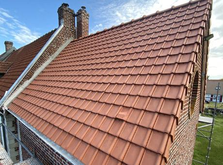 Couverture de toiture en tuile à Arras
